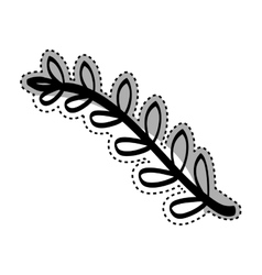 Beautiful leaves in black and white vector