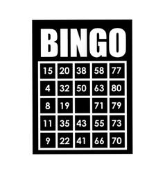 Bingo card isolated icon design vector