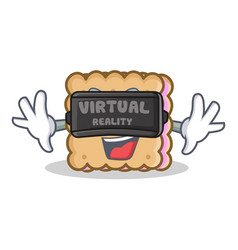 biscuit cartoon character style with virtual vector image
