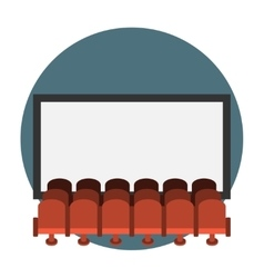 Cinema hall flat icon vector