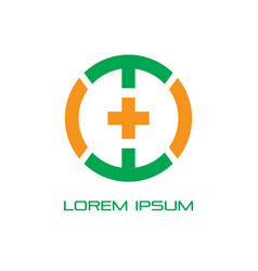 circle plus healthcare logo vector image