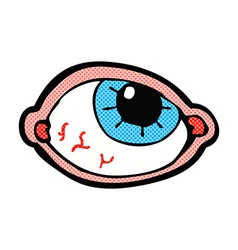 comic cartoon spooky eye vector image
