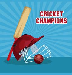 Cricket champions design vector