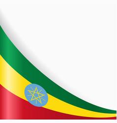 ethiopian flag background vector image vector image