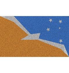 Flags of tierra del fuego province on denim vector