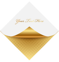 golden note paper vector image vector image