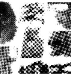 Halftone collection vector