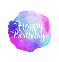 Happy birthday watercolor concept vector