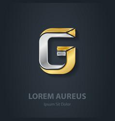 Letter g template for company logo 3d design vector