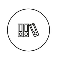Line folder icon vector
