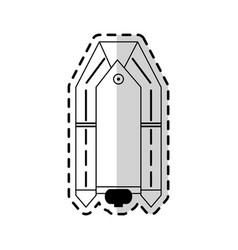 Motor lifeboat icon image vector