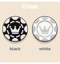Poker black and White Chips vector image vector image