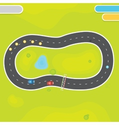 Racing game asset objects vector