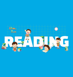 reading concept vector image vector image
