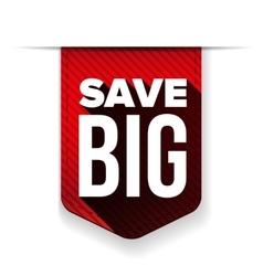 Save big ribbon vector