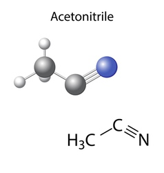 Structural chemical model of acetonitrile vector