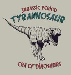 Tyrannosaurus rex angry predator vector