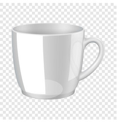 White cup mockup realistic style vector