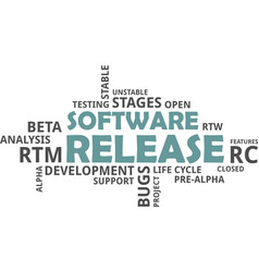 word cloud - software release vector image