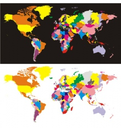 world maps vector image vector image