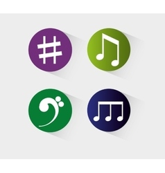 Music notes sound art vector