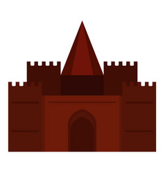 Medieval palace icon isolated vector