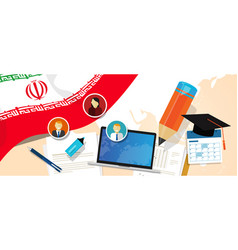Iran education school university concept with icon vector
