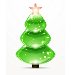 Christmas tree from design elements background vector