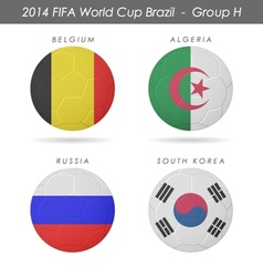 2014 fifa world cup group h countries vector