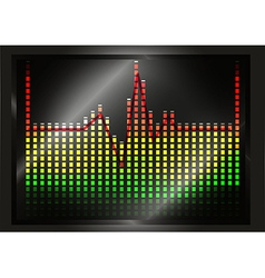 Heart beat line on equalizer vector