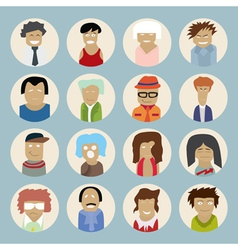Set of people icons in flat style vector image