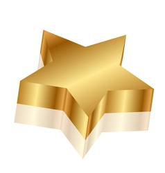 3d of gold star vector image vector image