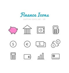 Financical icons set vector