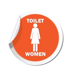 Map pointer with restroom icons lady vector