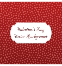 Valentines day hearts pattern on red background vector