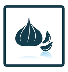 Garlic icon vector