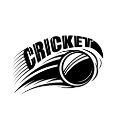 Cricket badge template with vector