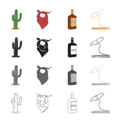 america wild west and other web icon in cartoon vector image