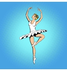 Beautiful ballerina girl dancing vector