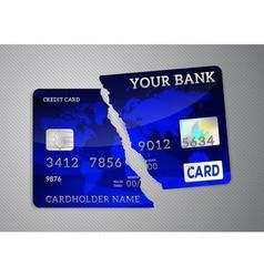 Broken credit card vector