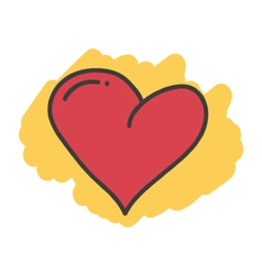 Cartoon doodle heart vector image vector image