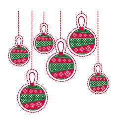 Cartoon set collection garlands christmas vector