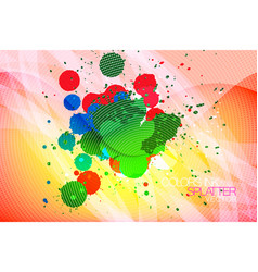 Colors ink splatter abstract background vector