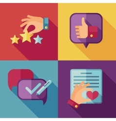 Customer service concept background in flat style vector image
