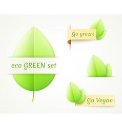 eco labels set vector image vector image
