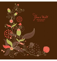 floral illustration vector image