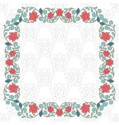 Floral oriental pattern in vintage style vector image vector image