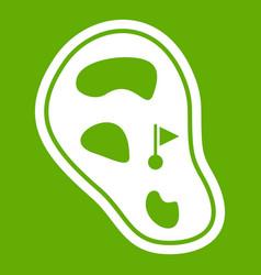 golf course field icon green vector image