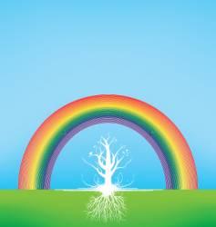gradient tree vector image vector image