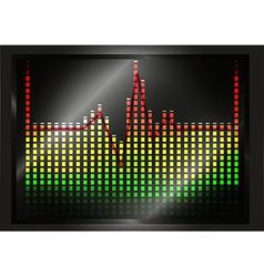 Heart beat line on equalizer vector image